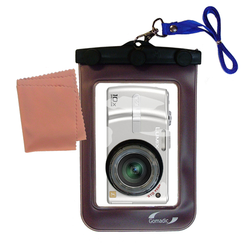 Gomadic Waterproof Camera Protective Bag Suitable For The Panasonic Lumix Dmc - tz1  -  Unique Floating Design Keeps Camera Clean And Dry