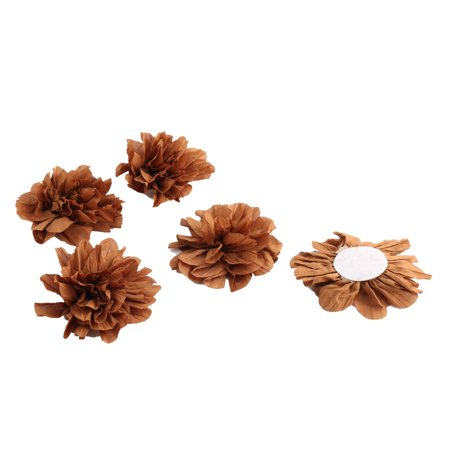 Brown Artificial Shade - Home Birthday Party Decor Fabric Artificial Handcraft DIY Flower Brown 5 Pcs