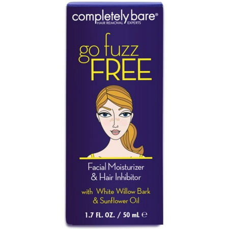 Completely Bare go fuzz FREE Facial Moisturizer & Hair Inhibitor 1.7 (Completely Bare Completely Gone Hair Vanishing Lotion)