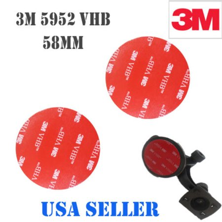 3M 2x 58mm VHB Double Sided Foam Adhesive Tape 5952 Automotive Mounting GPS Automotive Gopro Mounting Very High Bond Strong Industrial Grade