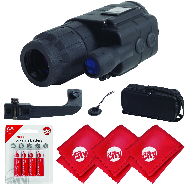 Sightmark Ghost Hunter 2x24 Night Vision Riflescope w  Microfibers + 4 AA Batteries (SM16012) by Sightmark