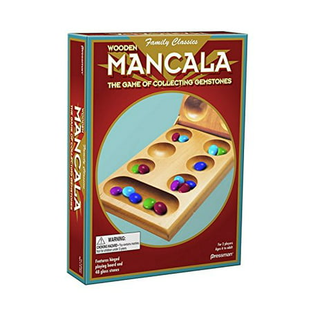 Mancala - Real Wood Folding Set, Invented thousands of years ago, Mancala is one of the world's favorite games of counting and strategy By Pressman
