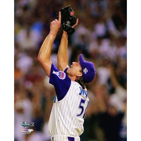 Randy Johnson Game 2 of the 2001 World Series Action Photo Print