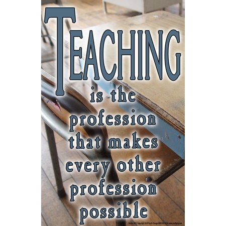 Youth Change Poster #571 Inspiring Teacher Poster with Quote About Teaching Profession](Cute Halloween Quotes For Teachers)
