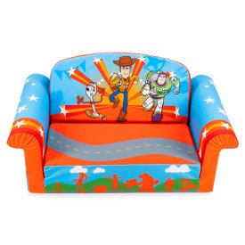 Disney Toy Story 4 Toddler 2-in-1 Flip Open Sofa, Marshmallow (Marshmallow Fun Furniture Flip Open Sofa Spiderman)