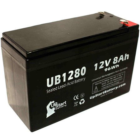 Compatible Briggs & Stratton 497395 Battery - Compatible UB1280 Universal Sealed Lead Acid Battery (12V, 8Ah, 8000mAh, F1 Terminal, AGM, SLA) - Includes TWO F1 to F2 Terminal Adapters - image 4 de 4
