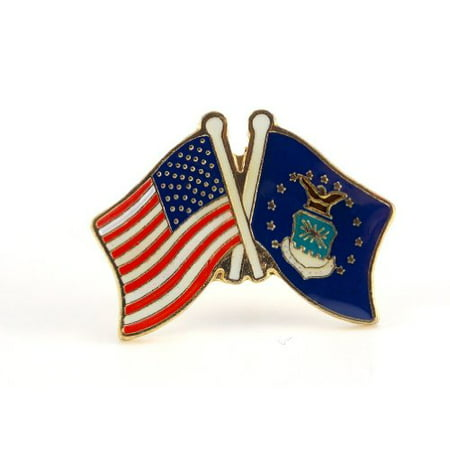 U.S. Air Force Flag USA Flag Crossing Lapel Hat Pin Military PPM641