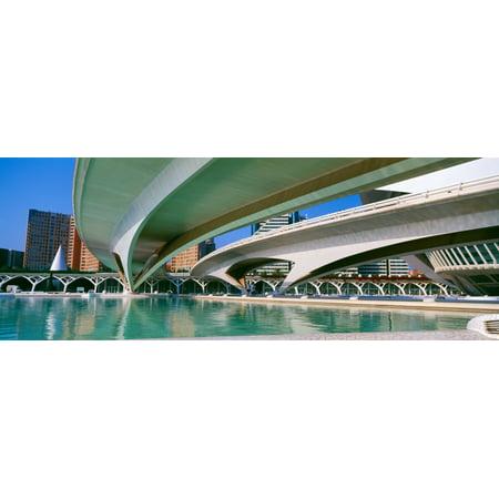 LHemisferic Planetarium and El Palau De Les Arts Reina Sofia Ciutat De Les Arts I Les Ciencies Valencia Spain Poster (Best Home Planetaria)