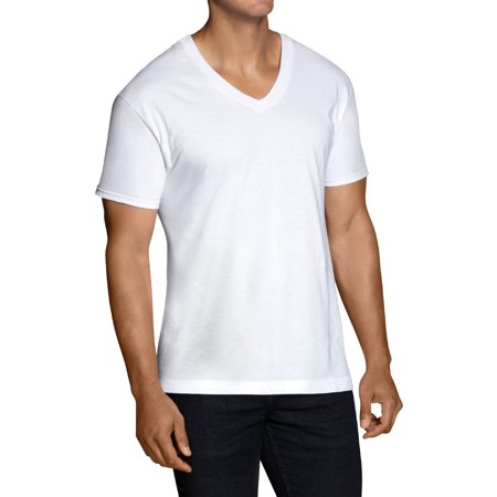 Fruit of the Loom Men's Tag Free V-Necks, 6 Pack,