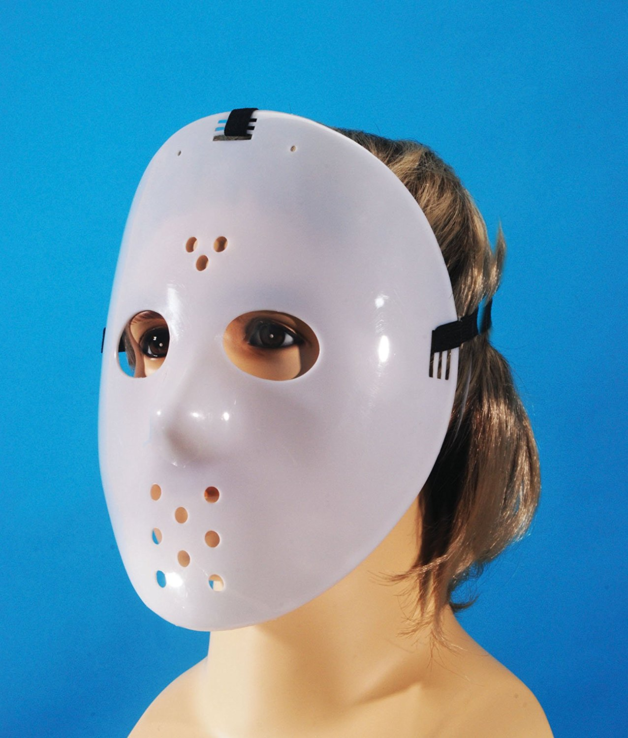 Glow-in-The-Dark Adjustable Star Power Jason Hockey Face Mask, One Size, Plastic By Loftus... by