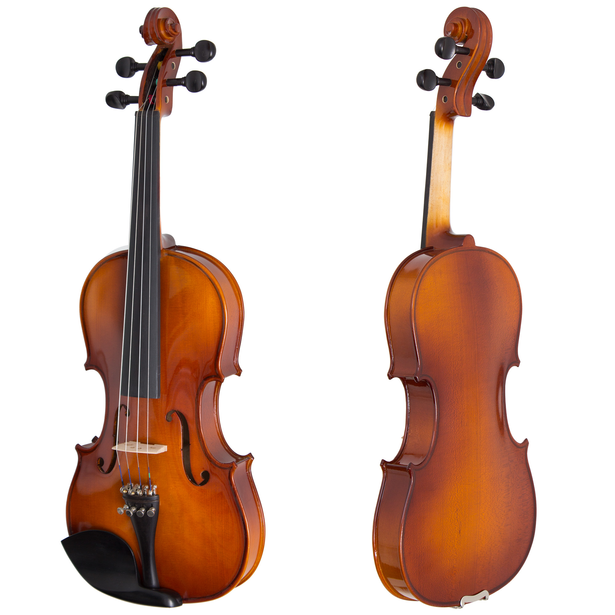 Cecilio full size 44 cvn 300 ebony fitted solid wood violin wd cecilio full size 44 cvn 300 ebony fitted solid wood violin wdaddario prelude strings lesson book shoulder rest and more walmart ccuart Image collections