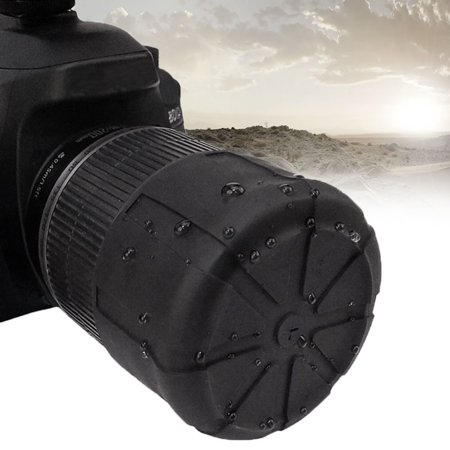 1X Waterproof SLR Silicone Camera Cover Universal Lens Cap Holder Camera Len Cover - image 4 of 8