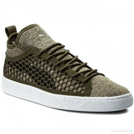 Puma Mens Basket - Puma Men's Basket Classic NETFIT 364249 03 Olive Night-Puma White