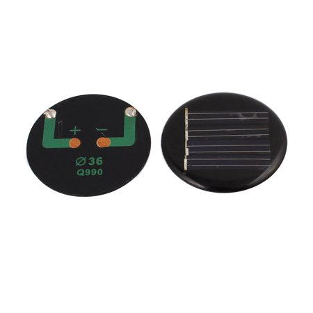 2Pcs Polycrystalline Solar Cell Panel Module Round Shape 36mm (Solar Module Panel)