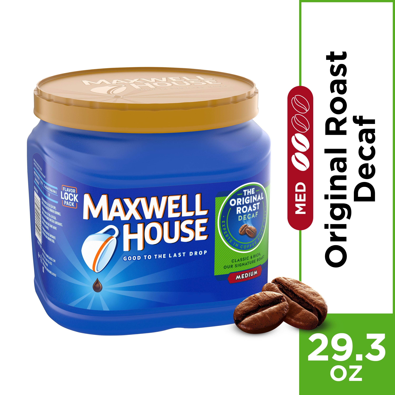 (3 Pack) Maxwell House Decaf Original Roast Ground Coffee, 29.3 oz Jug