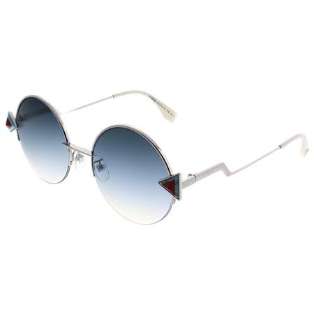6d5baac695 Fendi - Fendi Rainbow FF0243 F SCB Women s Round Sunglasses - Walmart.com