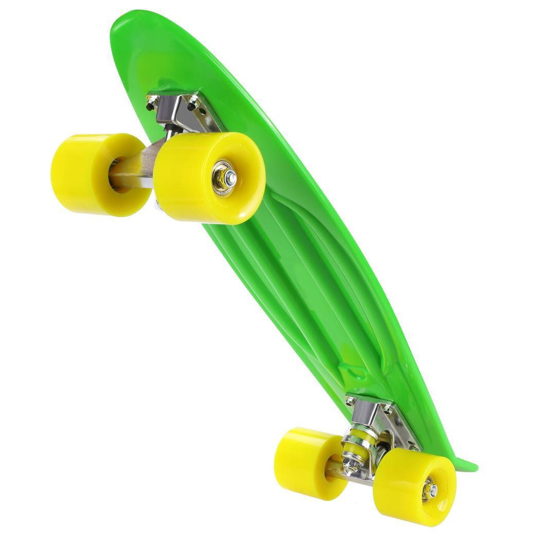 "22"" Complete Skateboard with Colorful Wheels for Kids, Boys, Girls, Youths, Beginners by"