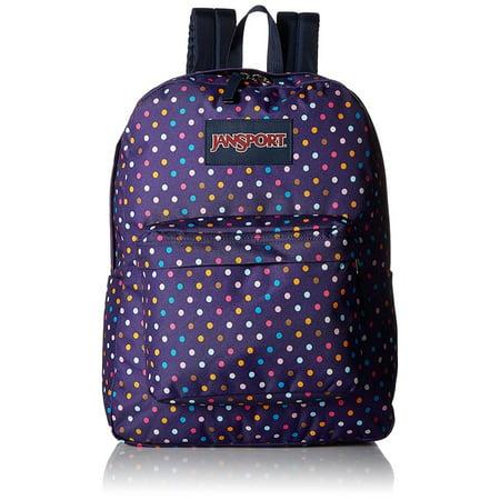 uk availability 479e3 e8ddb JanSport - Superbreak Backpack Purple Spot-O-Rama - Walmart.com