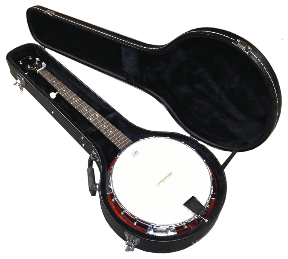 "5-String BANJO in HARD CASE REMO Head 38"" TRADITIONAL BLUEGRASS Sepele Wood by"