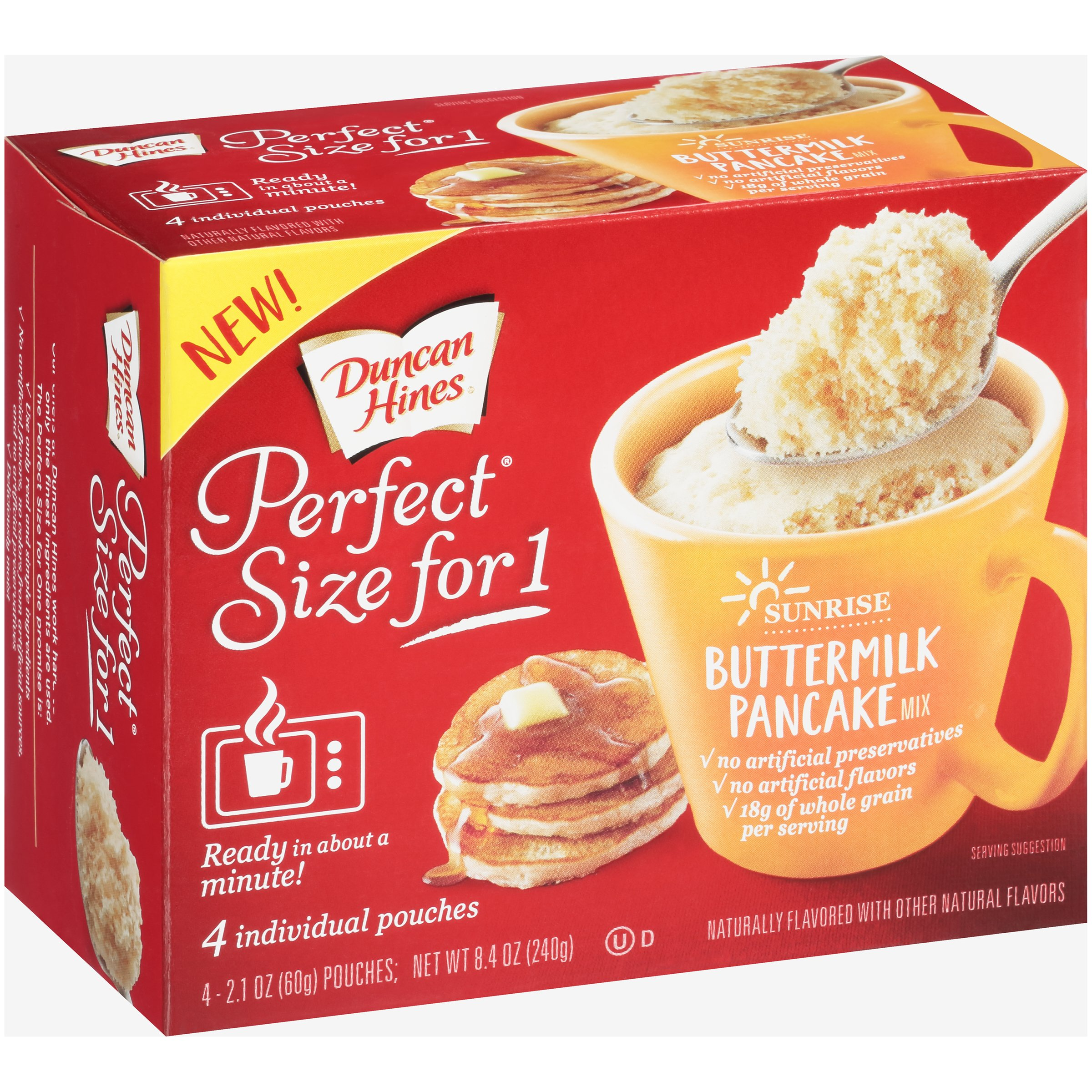 Duncan Hines® Perfect Size for 1® Buttermilk Pancake Mix 4-2.1 oz. Pouches