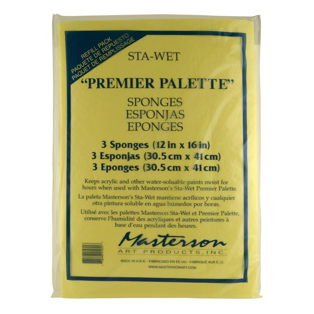 Sta-Wet Premier Sponge Refill 3PkPaints will stay fresh for hours - days and even weeks By Masterson