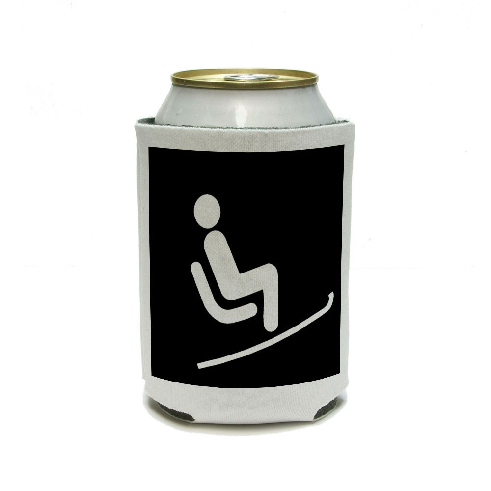 Skiing Ski Lift Can Cooler Drink Insulator Beverage Insulated Holder by Graphics and More