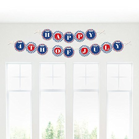 Happy 4th of July Garland Banner - Fourth of July Party Decor