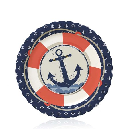 Ahoy Nautical - Party Dessert Plates (8 count) - Nautical Dessert Ideas