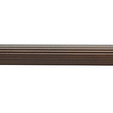Wood Trends 1 3/8 Inch Fluted Wood Poles (6 Ft, Coffee)