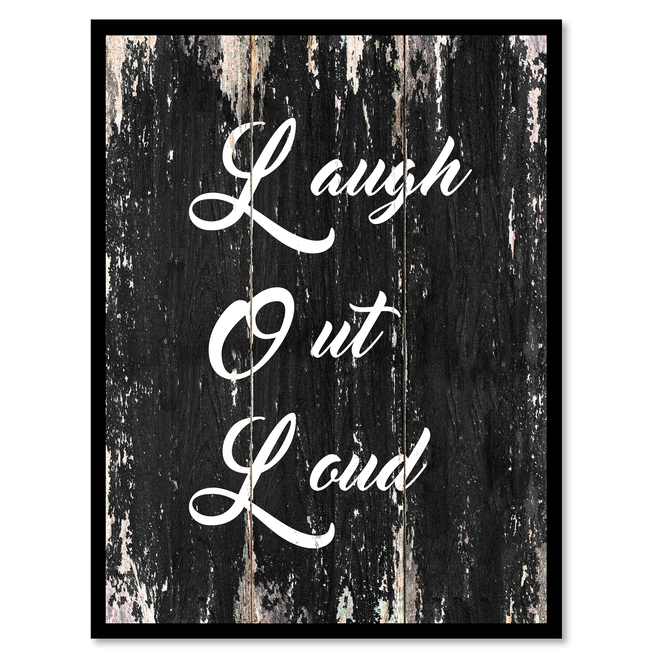 12 Home Decor Gift Ideas From Walmart: Laugh Out Loud Lol Funny Quote Saying Black Canvas Print