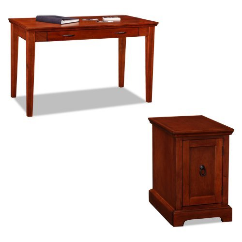 Leick Westwood Laptop Desk with Printer Stand - Cherry