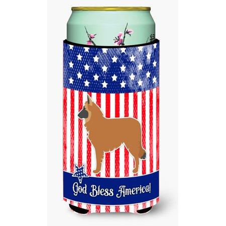 USA Patriotic Belgian Shepherd Tall Boy Beverage Insulator Hugger BB3361TBC