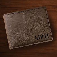 Personalized Tan Leatherette Wallet