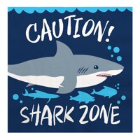 Shark Zone - Jawsome Shark Party or Birthday Party Luncheon Napkins (16 Count)