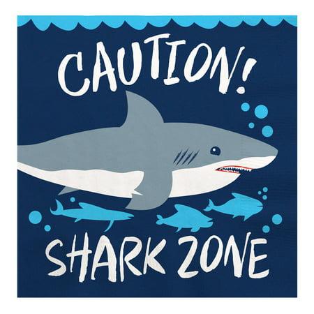 Birthday Luncheon Napkins (Shark Zone - Jawsome Shark Party or Birthday Party Luncheon Napkins (16)