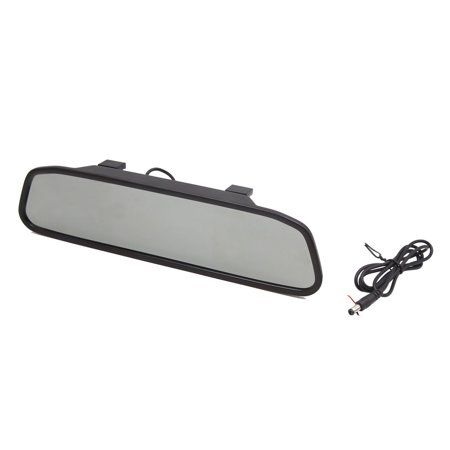 Black 4.3 Inch Car Vehicle Rear View Digital TFT LCD Color Mirror