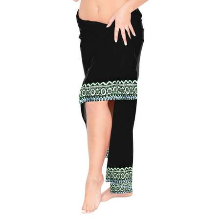 c8ca94bcc6 LA LEELA - Womens Pareo Wrap Scarf Bathing Suit Swimsuit Swimwear Sarong  Bikini Cover ups - Walmart.com