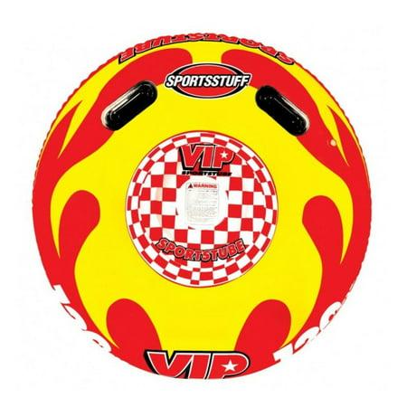 Sportsstuff Sportstube VIP Inflatable Towable Single Rider Water Tube | (Sportsstuff Mini Accents)