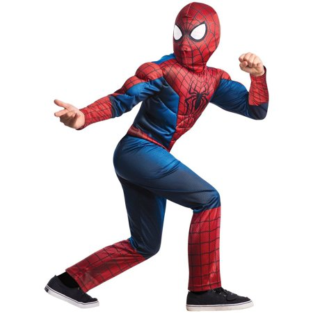 Marvel  Amazing Spider-man 2 Deluxe Costume, Child Small 4-6 - Amazing Spiderman Costume