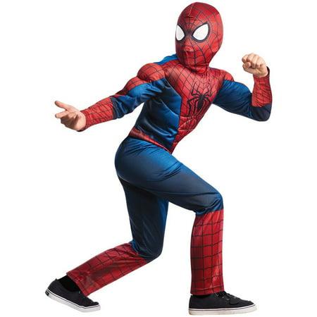 Marvel  Amazing Spider-man 2 Deluxe Costume, Child Small 4-6 - The Amazing Spider Man Deluxe Costume