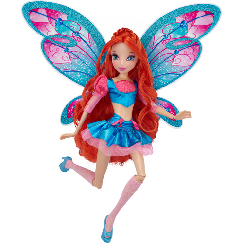 """Winx Believix Bloom Doll 11.5"""" Fashion Fairy Doll with Wings 10 Pieces"""