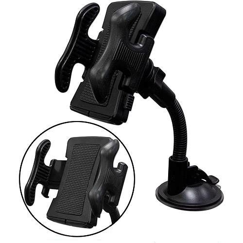 QVS Universal Windshield Mount with 3-in-1 USB Sync/Charger Cable Kit, WH-C1K