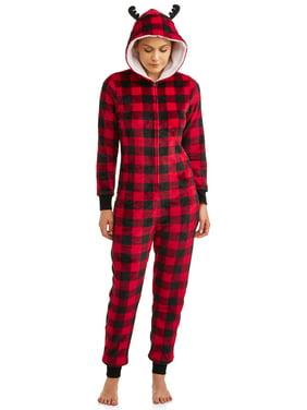 Matching Family Christmas Pajamas Womens and Womens Plus Buffalo Union Suit