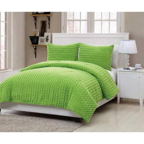 VCNY Home Green Fur Bedding Comforter Set