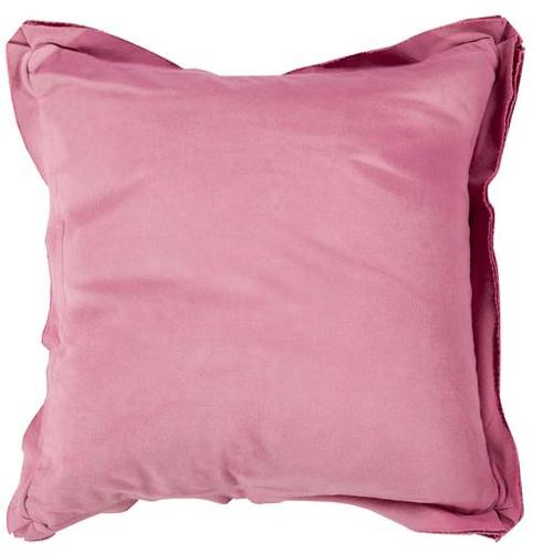 "20"" Orchid Pink Flanged Trim Decorative Throw Pillow - Down Filler"