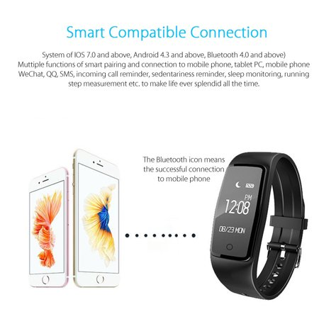 bluetooth Smart Watch, IP67 Waterproof Smart Wristband Bracelet for iPhone  and Android Phones, bluetooth 4 0, OLED Display, Sleeping Health Sport
