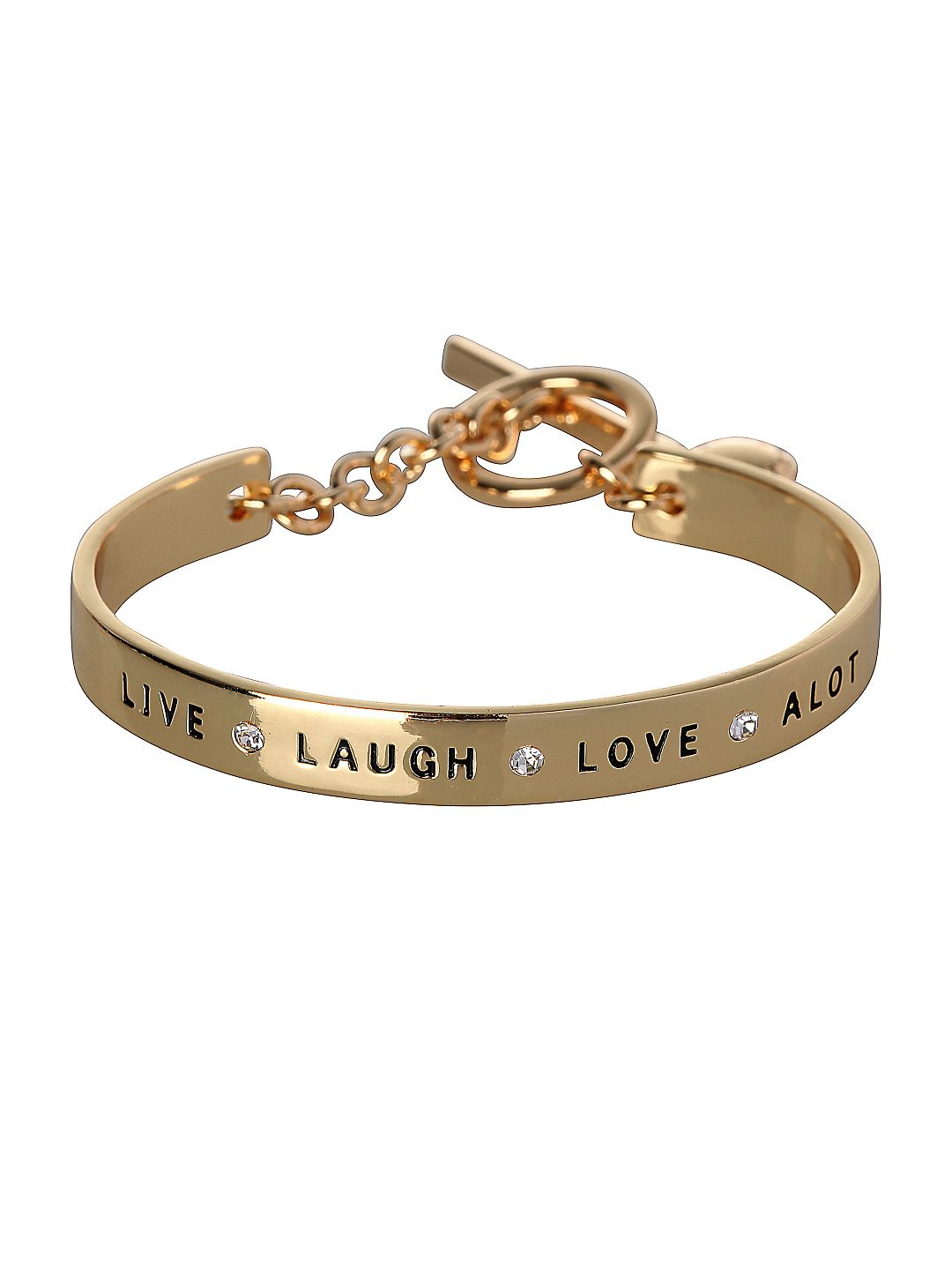 Basic Live, Laugh, Love A Lot Etched Bracelet