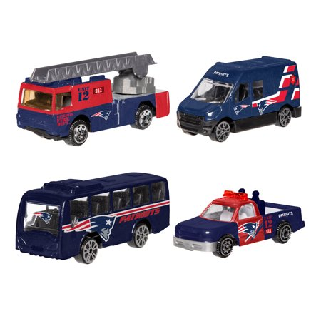 Forever Collectibles - 4 Pack Die Cast Cars, New England Patriots New England Patriots Collectibles