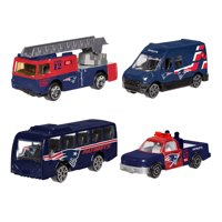 Forever Collectibles - 4 Pack Die Cast Cars, New England Patriots