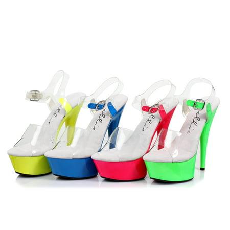 Stiletto Heel Neon Bottom Platform (Ellie 609-ROXY Women Sexy 6